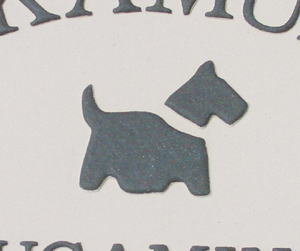 オリジナル陶器表札K19犬a