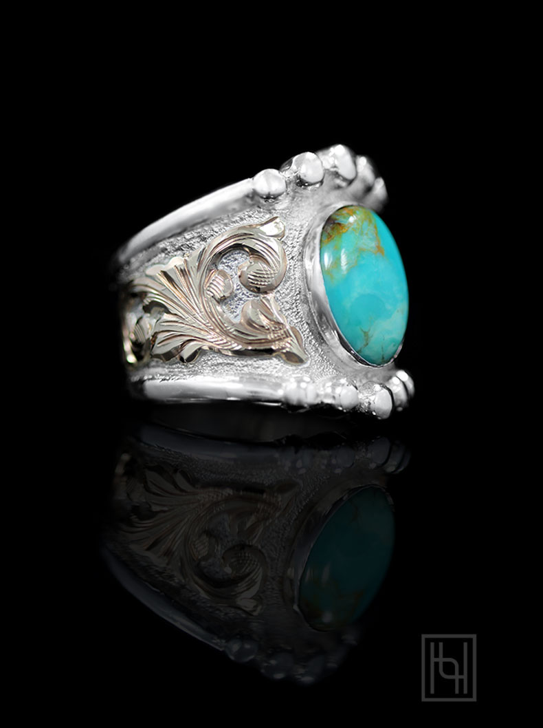 RimRock Turquoise Ring Hyo Silver Ring Collection