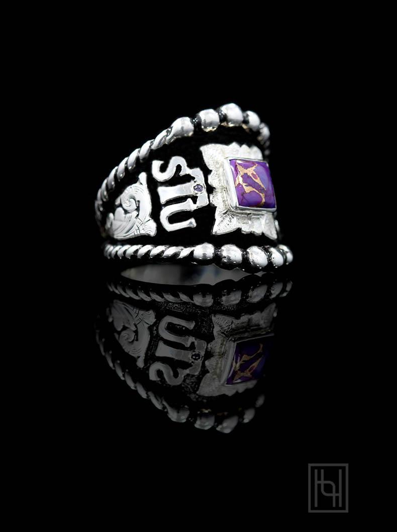 Custom RimRock & Rope Ring - Custom Rings by Hyo Silver