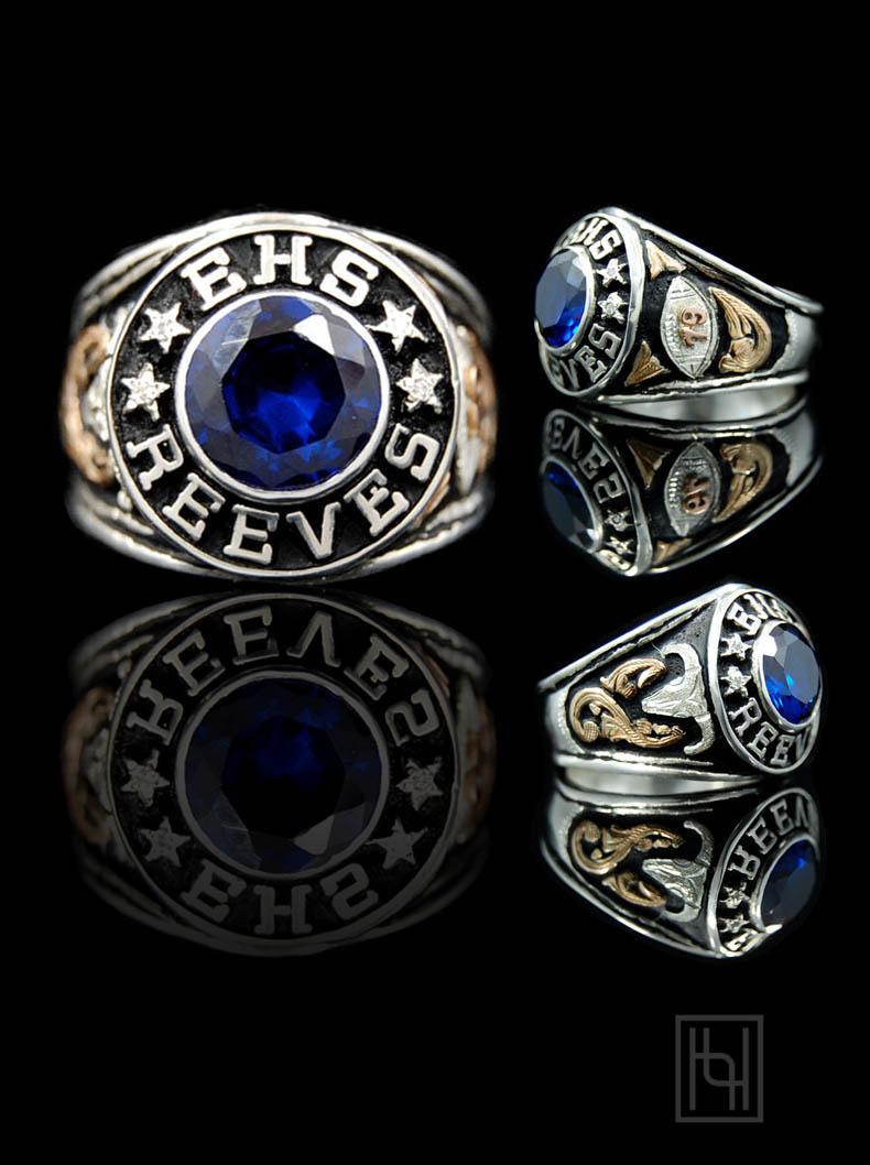 Mens Custom Ring Hyo Silver