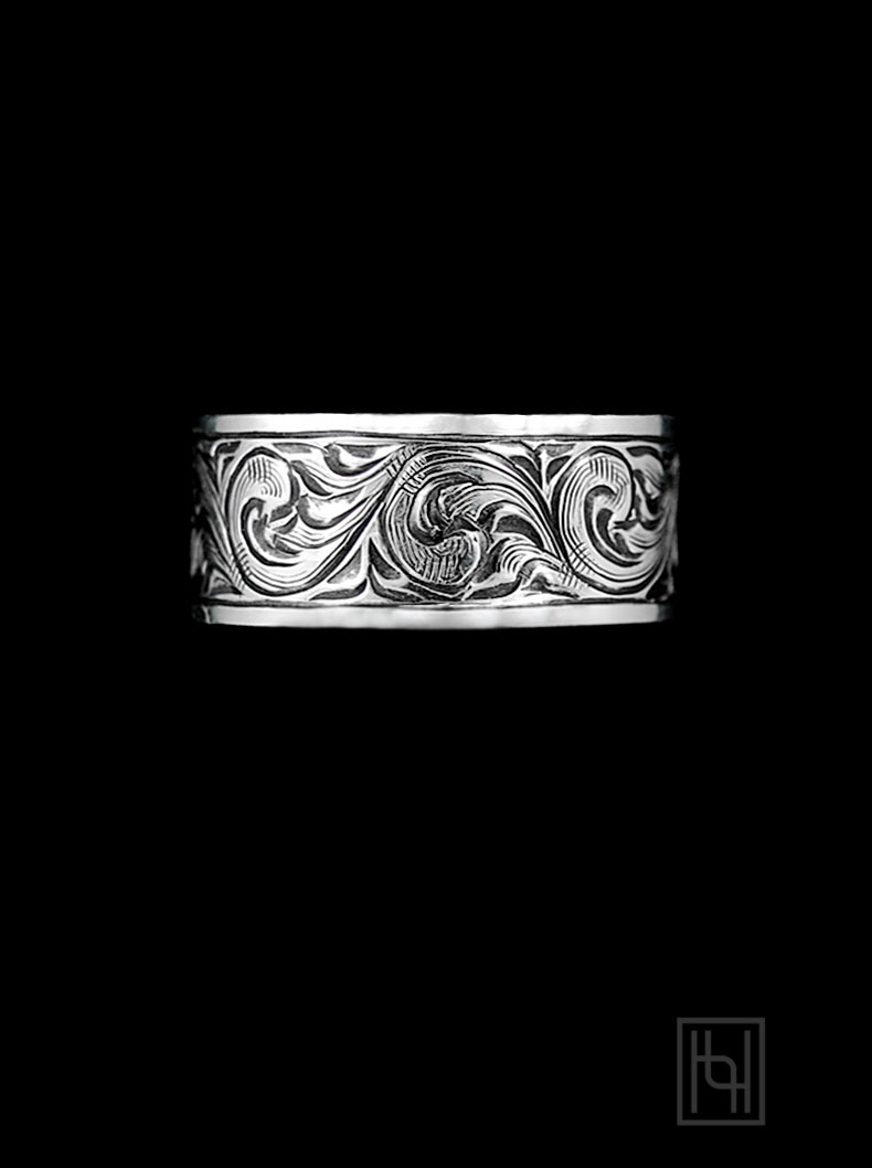 Vintage Engraved Silver Ring Ring Collection By Hyo Silver