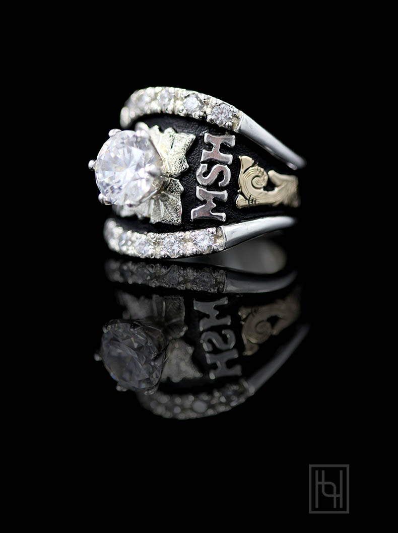 Custom Texas Solitaire Ring Custom Amp Class Rings By Hyo Silver