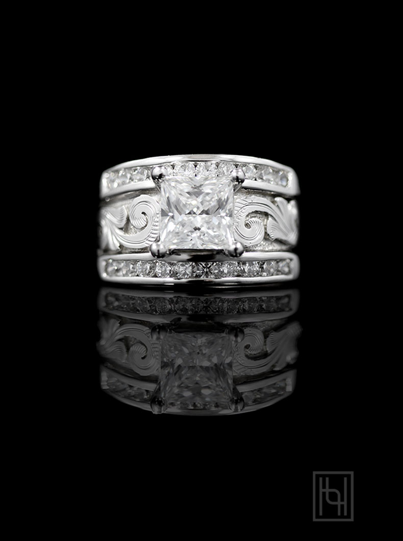 Silver Princess  ChannelSet Ring  Ring Collection by