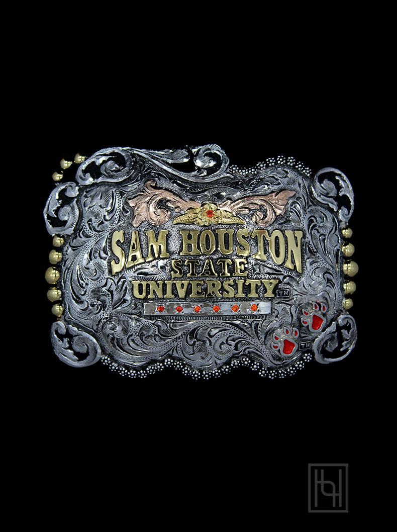 Sam Houston State University Belt Buckle Hyo Silver