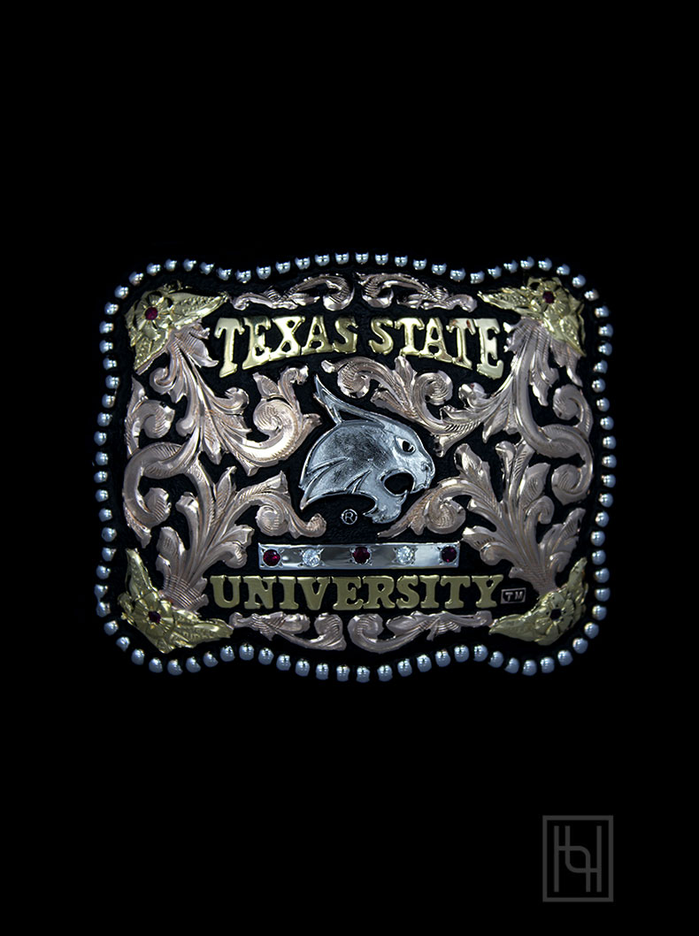 Texas State University Belt Buckle Graduation Buckles