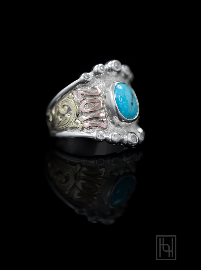 Personalized RimRock Amp Crystal Ring Custom Rings By Hyo