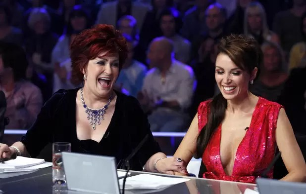 Sharon and Dannii during happier times on X Factor