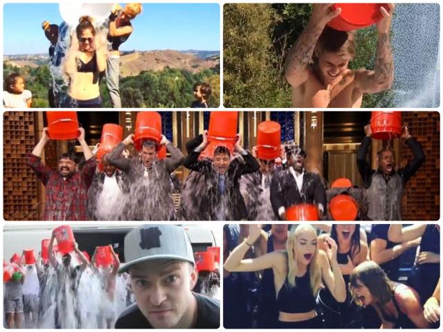 Celebrities taking on the #ALSIceBucketChallenge in the past week