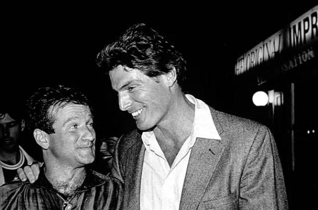 Robin Williams & Christopher Reeve (Source: Corbis)