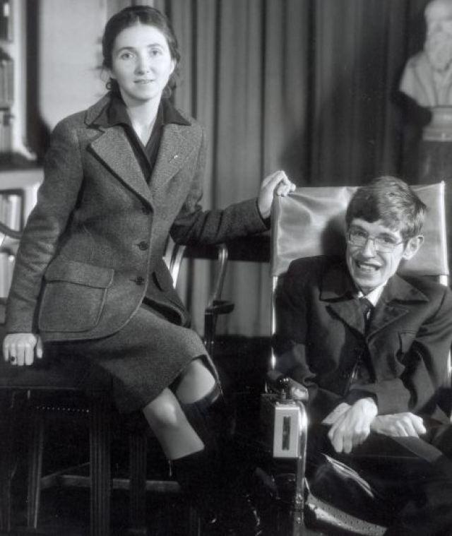 Jane Wilde & Stephen Hawking in 1974