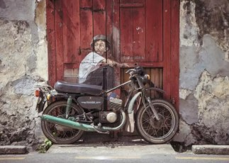 Biker Boy Street Art Georgetown Penang