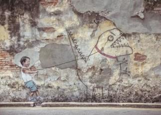 Dino Street Art George Town Penang