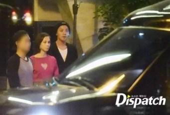 G-Dragon and Kiko leaving party