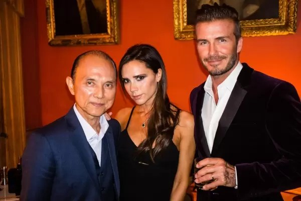 David and Victoria Beckham with Dato' Jimmy Choo celebrating the global launch of Haig Club™ in Scotland