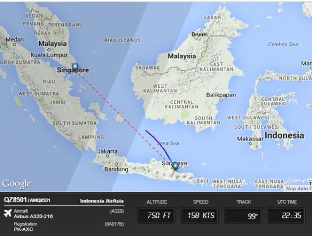 AirAsia: Flight QZ8501 Missing En Route From Surabaya - Singapore ...