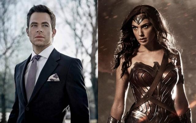 Chris Pine and Gal Gadot as Steve Trevor and Wonder Woman