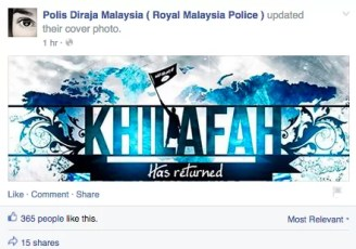 PDRM Facebook Page Hacked 7