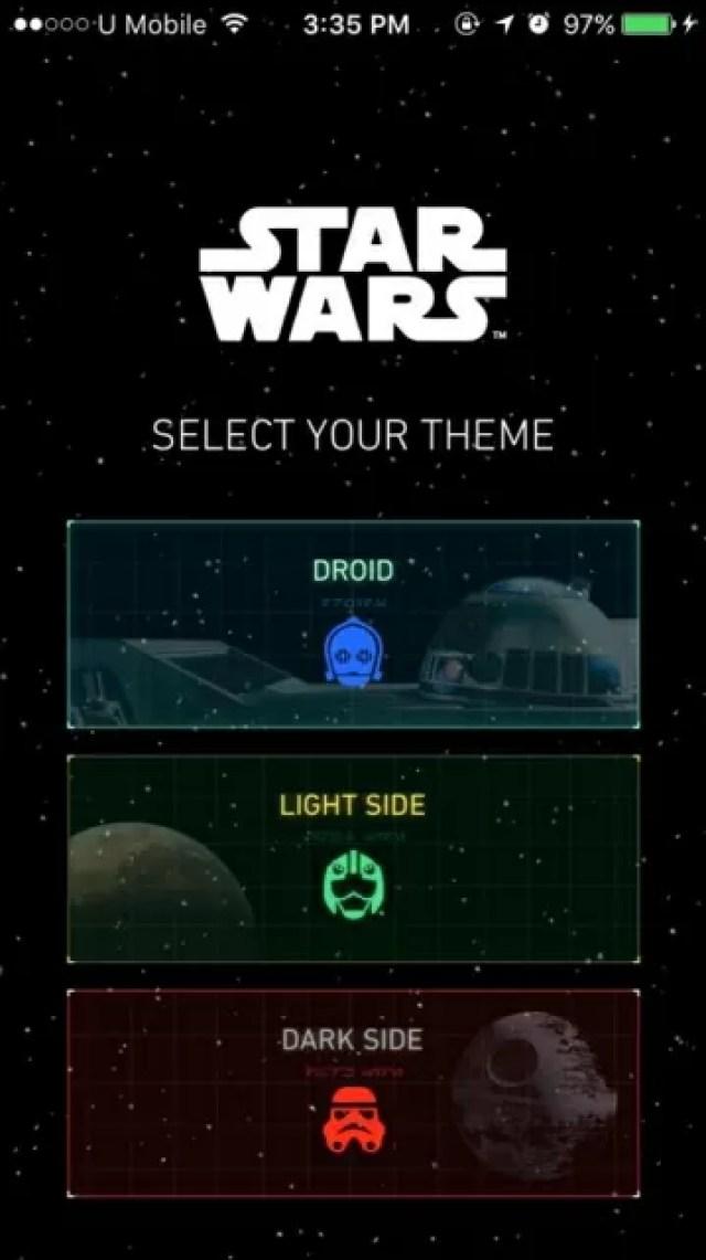 Star Wars App - Select Theme
