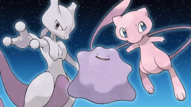 From left: Mewtwo, Ditto, Mew. Source: IGN