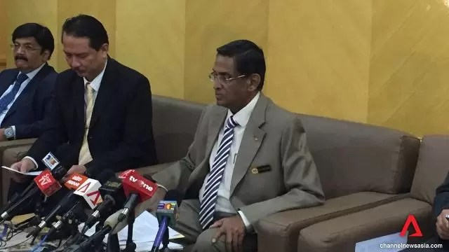 Datuk Seri Dr S.Subramaniam announcing the first case of Zika virus in Malaysia. Source: Channel NewsAsia