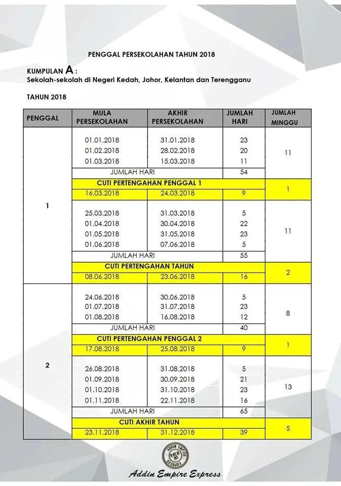 2018 Malaysia School Holidays & Term Dates Revealed