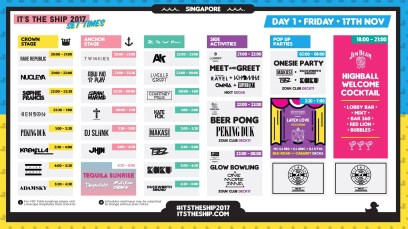It's The Ship 2017 Set Times Day 1