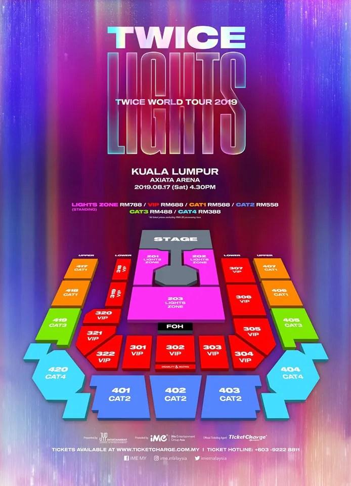 Twicelights: TWICE KL Seating Plan, Ticketing Details & Fan