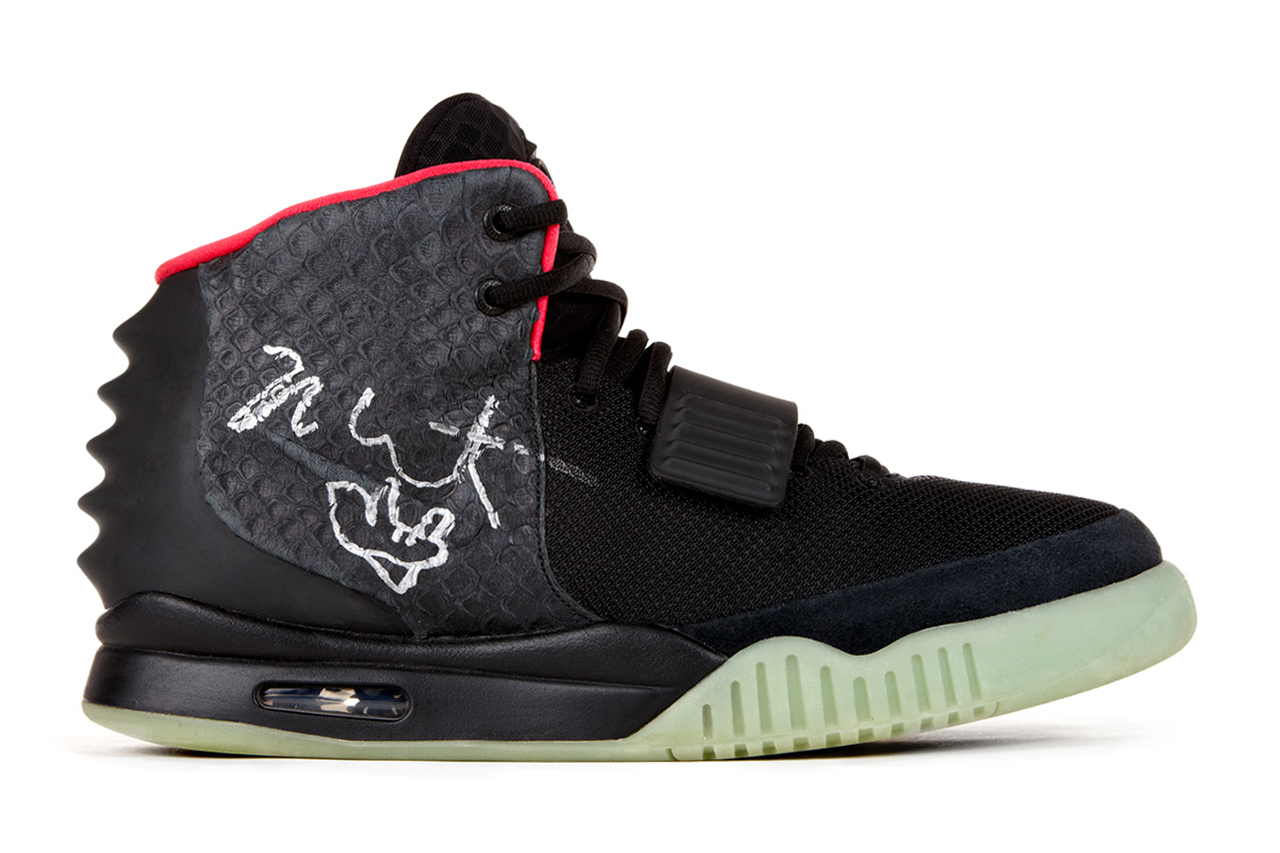 Image of Kanye West's Signed Nike Air Yeezy 2 Sells for $98,900 USD to Benefit Hurricane Sandy Victims