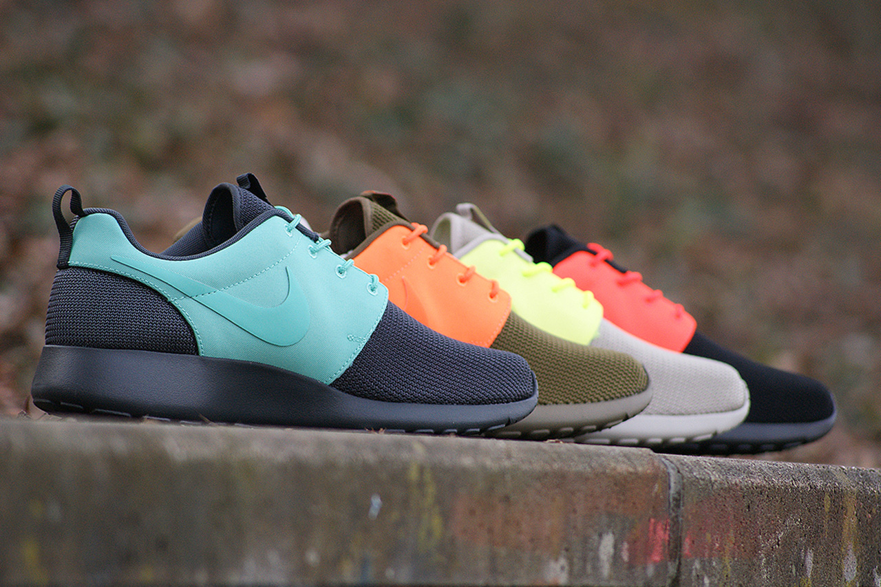 nike roshe run qs two faced pack fresh new gear the. Black Bedroom Furniture Sets. Home Design Ideas