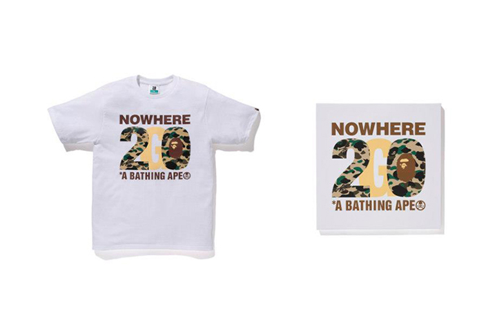9762dd29cd1b Image of NOWHERE   A Bathing Ape 20th Anniversary Collaborations with Kanye  West