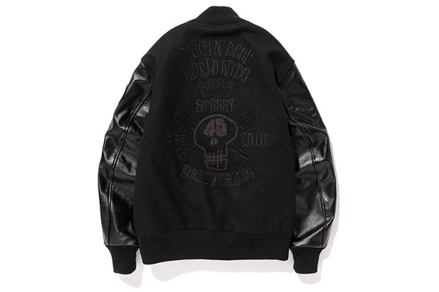 Image of 45 KING x KODP x BBP x Stussy Crate Digger Varsity Jacket