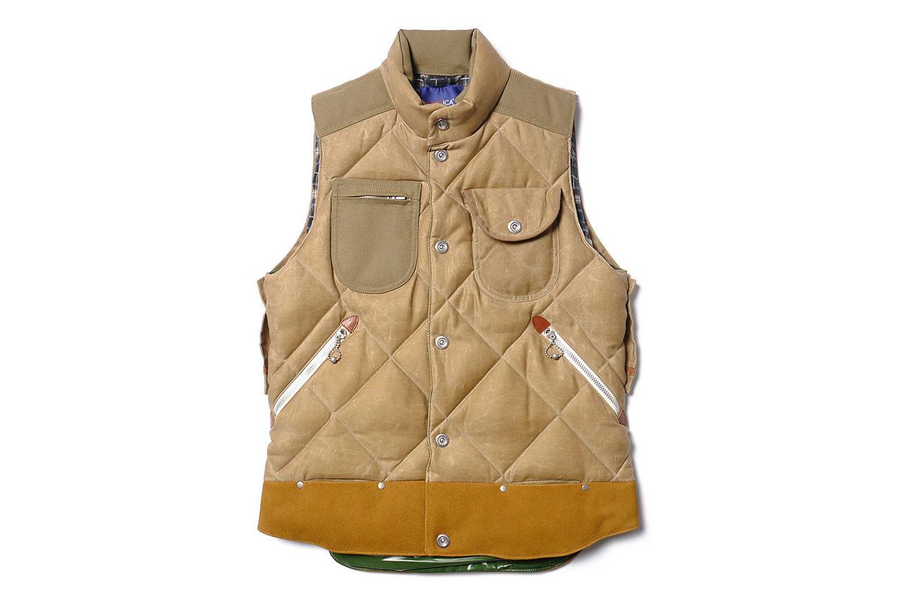 "Image of Junya Watanabe MAN x Duvetica ""Marsia"" Cotton Moleskin Paraffin Down Feather Vest"
