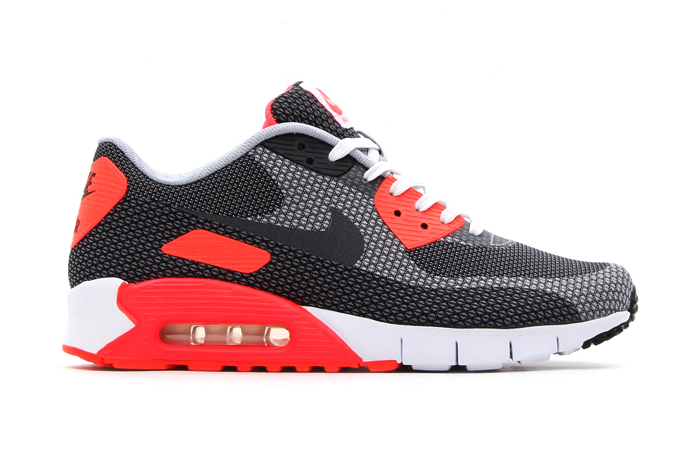 5379174358 Nike Air Max 90 Jacquard White/Cool Grey-Black-Infrared | Hypebeast ...