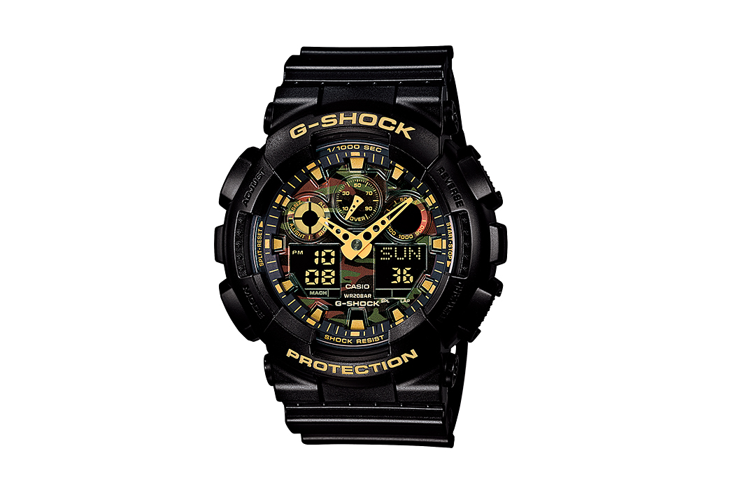 "Image of Casio G-Shock GA-100CF ""Camo Dial"" Collection"