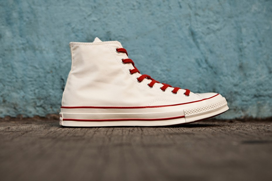"19730403f37e Nigel Cabourn and Converse First String have teamed up to create this 1970s  Chuck Taylor All Star Hi ""Ventile."" The perfect casual sneaker for spring  ..."