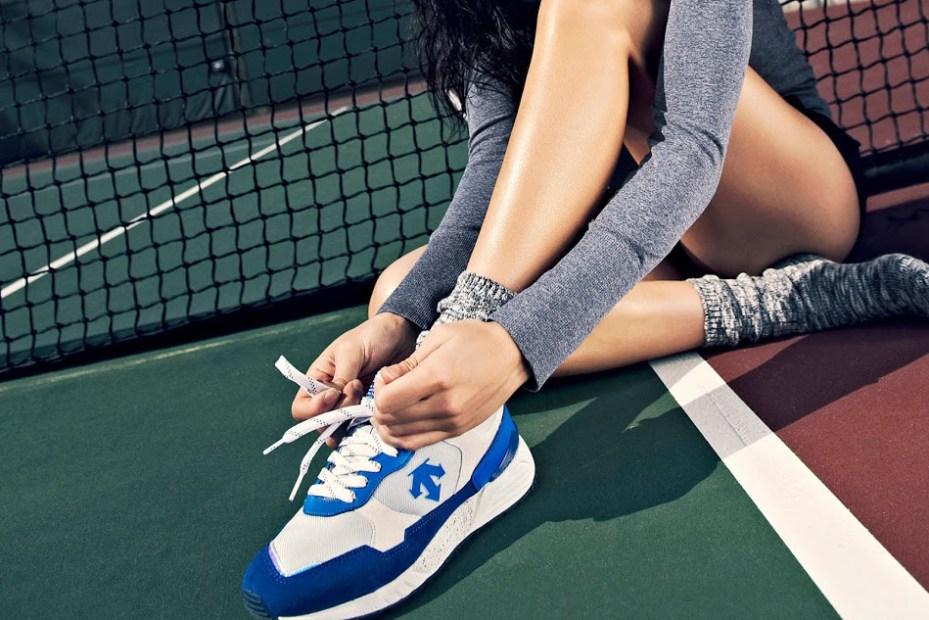Image of Descente Women's Training 2014 Spring/Summer Lookbook featuring Adrianne Ho
