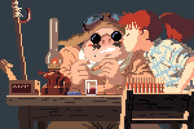 Image of Richard J. Evans Reimagines the Studio Ghibli Universe in 8-Bit