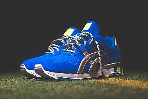 "Image of A First Look at the Ronnie Fieg x ASICS GT-II Kith Football Equipment ""Brazil"""