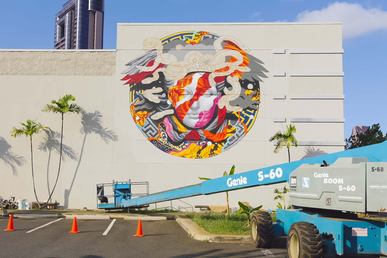 Image of POW! WOW! Hawaii x Versace Mural by Tristan Eaton