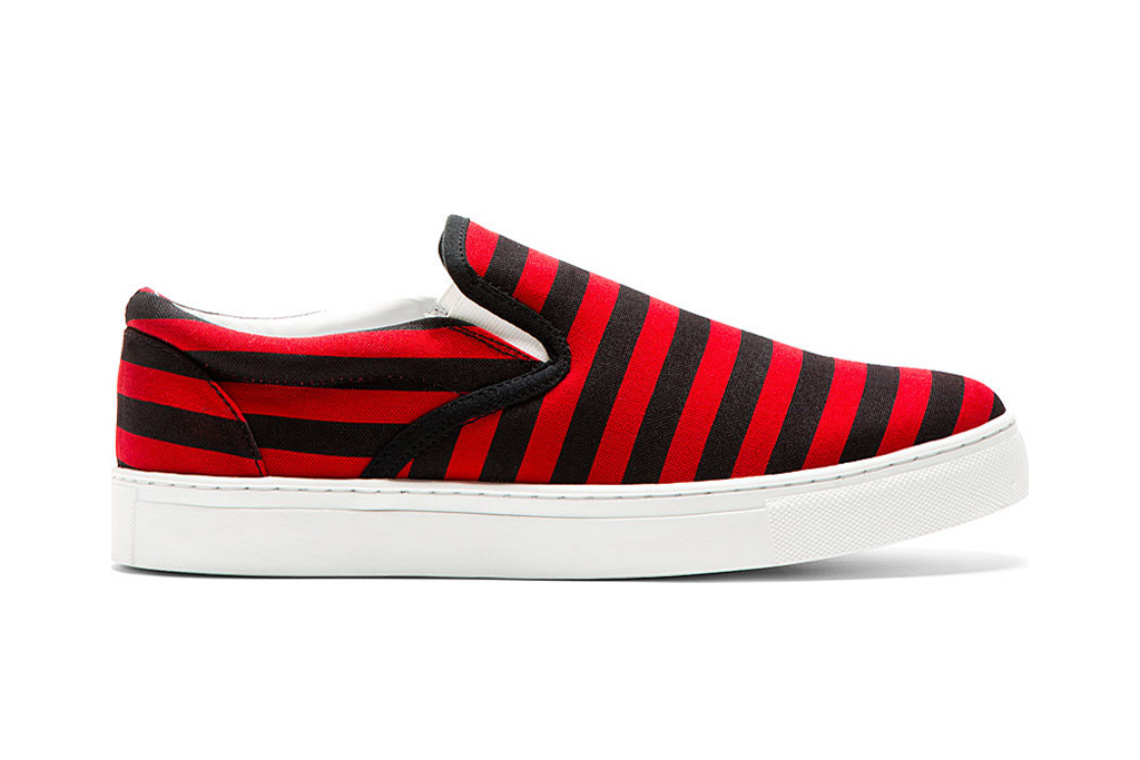 Image of UNDERCOVER 2014 Spring/Summer Striped Slip-On Shoes