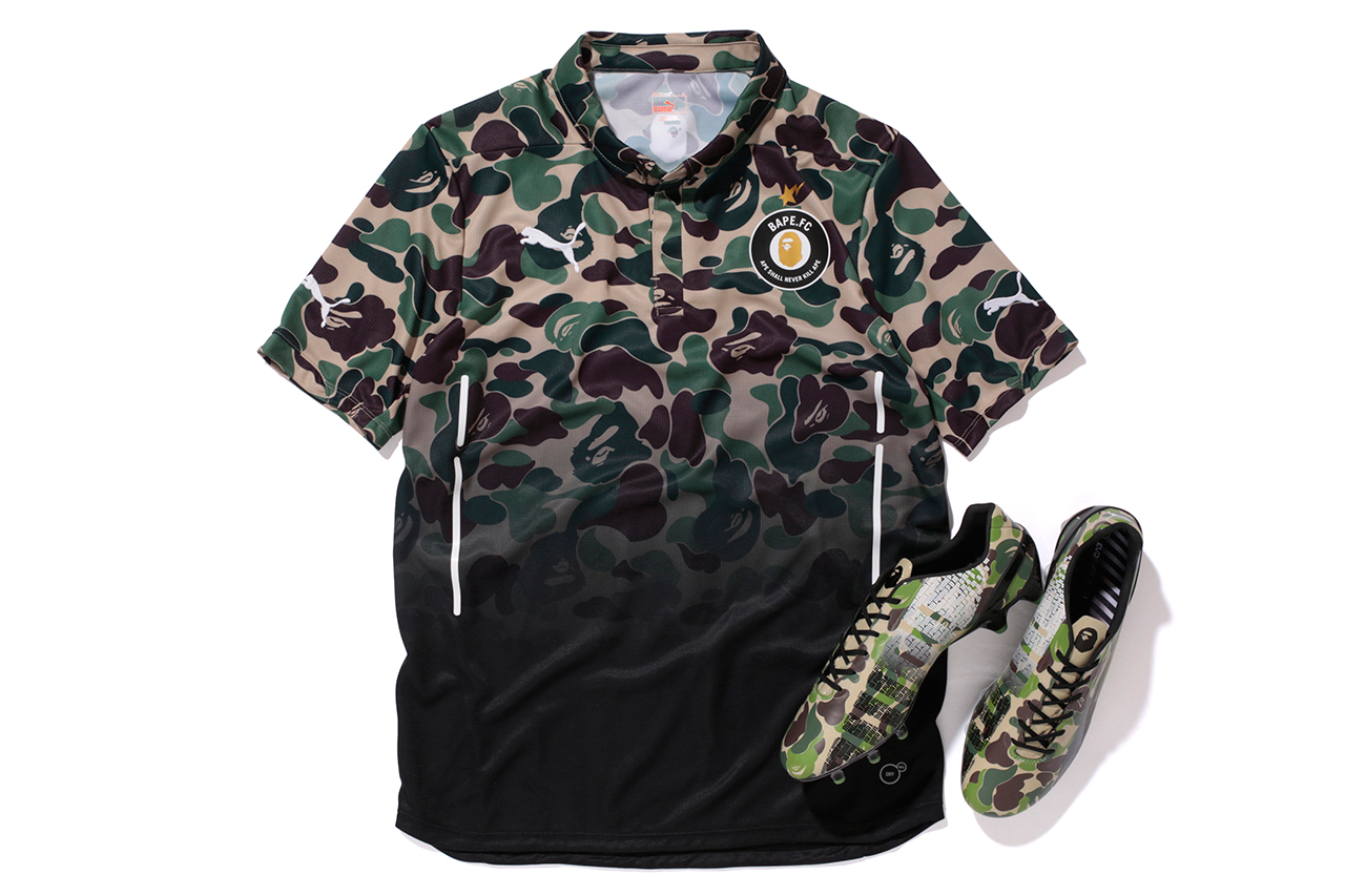 "Image of A Bathing Ape x PUMA evoSPEED ""BAPE F.C."" Collection"