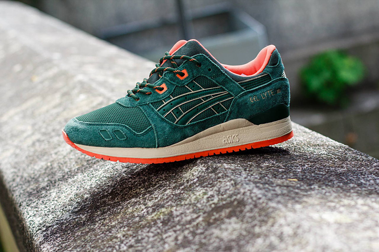 Image of ASICS Gel Lyte III Dark Green Orange 639e2749e660