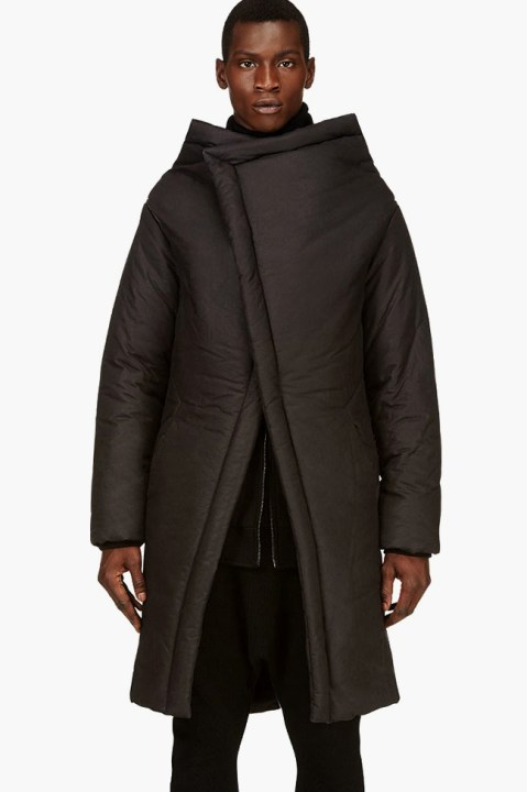 "Image of D.GNAK by Kang.D Layered Asymmetrical Parka ""Black"""
