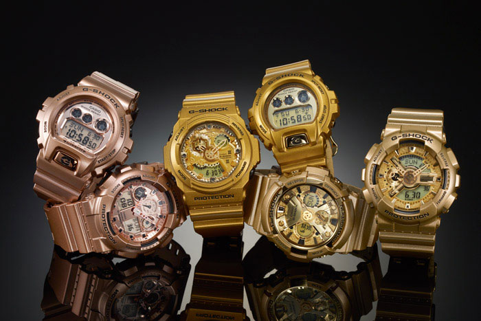 """Image of Casio G-Shock 2014 """"Crazy Gold"""" Collection"""