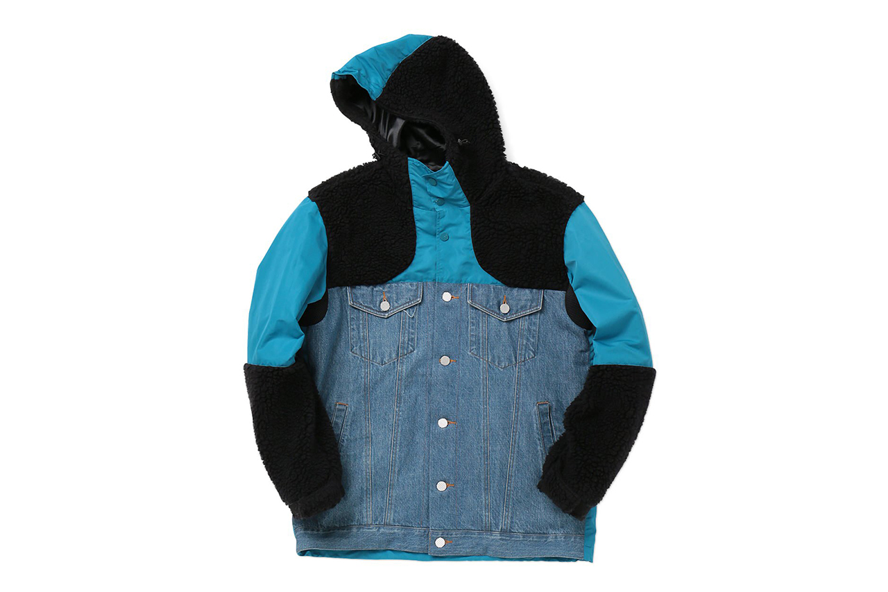 Image of PHENOMENON 2014 Fall/Winter Mix Hood Jacket