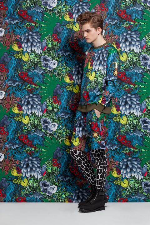 Image of EVISU x DRESSCAMP First Mash-Up Lights Up Fall 2014 with Bold Jungle Prints and Sporty Couture