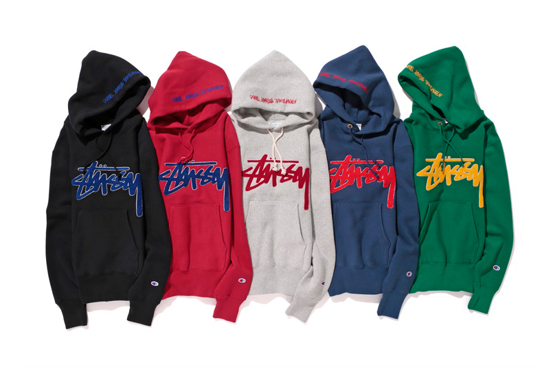 "Image of Stussy x Champion Japan 2014 Fall/Winter ""Reverse Weave"" Collection"