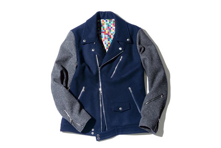 Image of uniform experiment 2014 Fall/Winter Wool Melton Double Riders Blouson