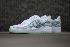 """Nike Primes for Halloween With Air Force 1 """"Skeleton"""""""