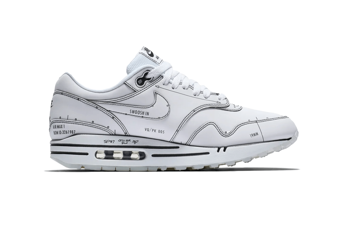 """Nike Air Max 1 Tinker """"Black Schematic"""" Releases August 9th"""